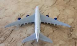 Curitiba, Paraná, Brazil - July 05, 2019:  thumbnail of a British Airways Airbus 380 aircraft.