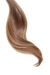 Curl of natural hair on white background