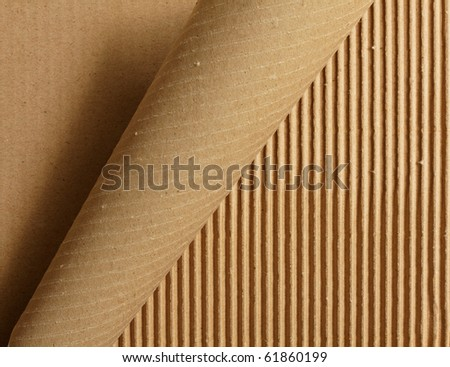 Curl peeling cardboard