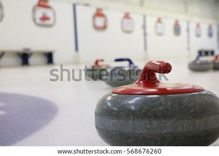 Curling - closeup of Rocks