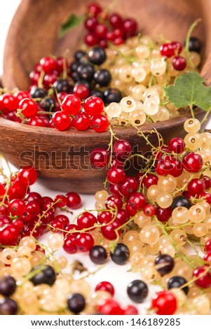 currants different of colors - red, black, white