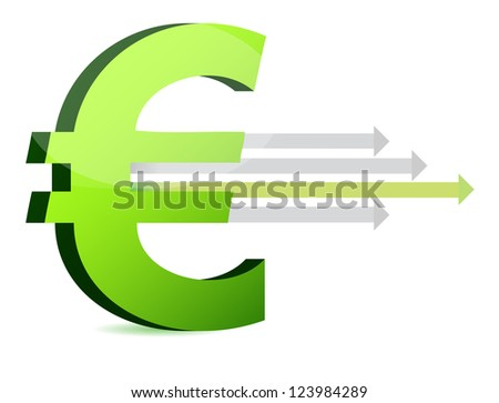 currency and arrows business design illustration design