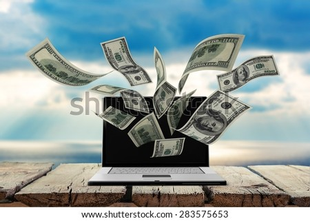 Currency, Computer, Electronic Banking.