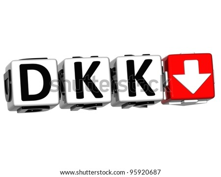 Currency DKK rate concept symbol button on white background