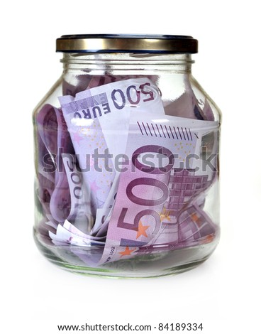 Currency european union, euro money in Bootle - stock photo