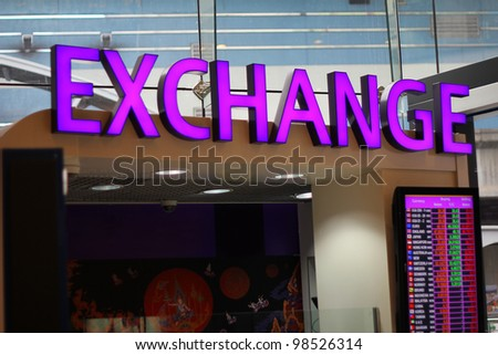 currency exchange counter