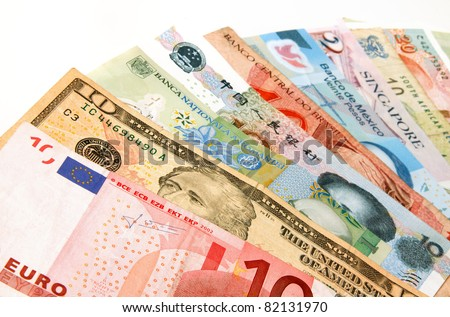 Currency from several different countries