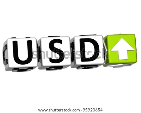Currency USD rate concept symbol button on white background