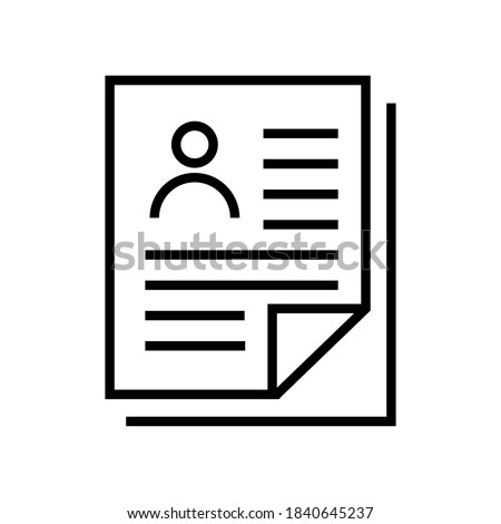 curriculum vitae icon isolated on white background from business collection. curriculum vitae icon trendy and modern curriculum vitae symbol for logo, web, app, UI. curriculum vitae icon simple sign.  Stok fotoğraf ©