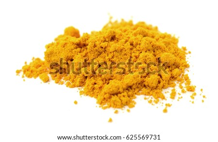 Curry powder isolated heap