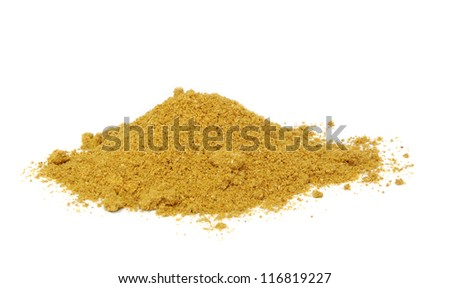 Curry powder, isolated on a white background