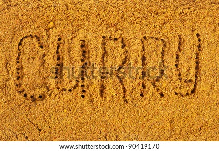Curry Powder  Mix Surface