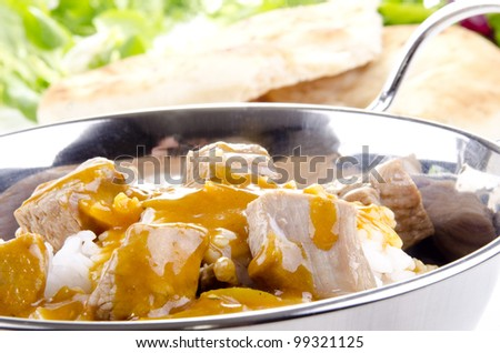Curry rice with chicken meat