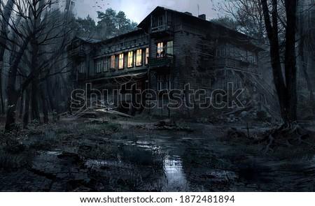 cursed house terror united states Photo stock ©