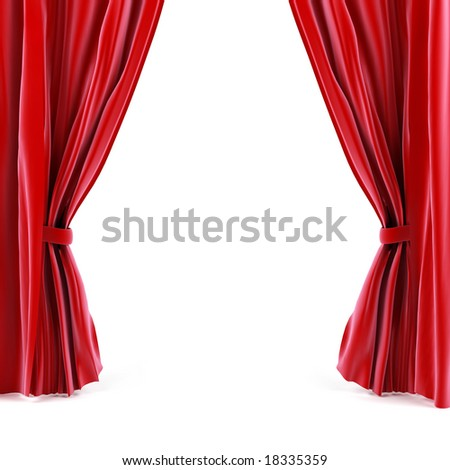 Curtain - stock photo