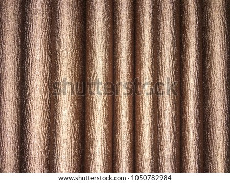 Curtain cloth texture background. Brown wrinkle curtain cloth background. #1050782984