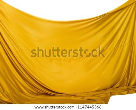 curtain drape background isolated