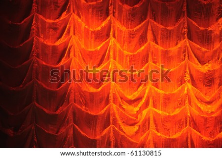 Curtain of theater