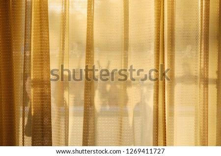 Curtain silhouette when twilight