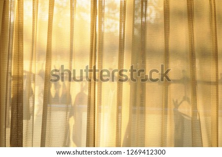 Curtain silhouette when twilight