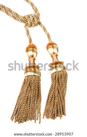 Curtain tassel isolated on white.