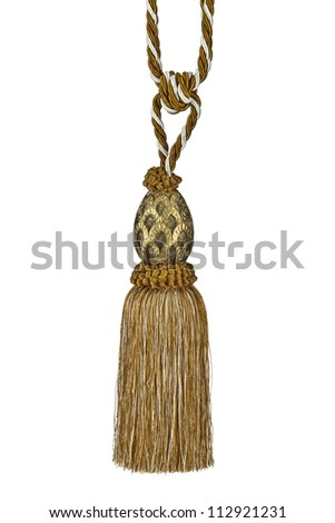 Curtain Tassel isolated on white background.