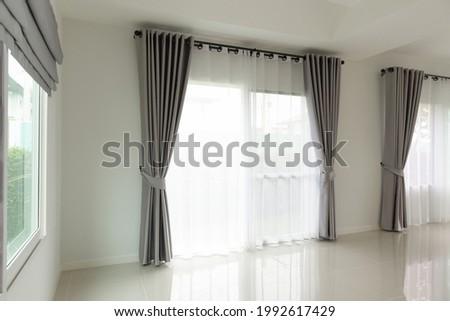 Curtain window interior decoration in living room