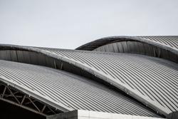 Curve metal roof