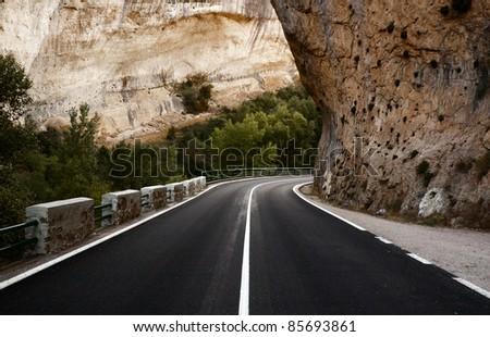 Curve, road