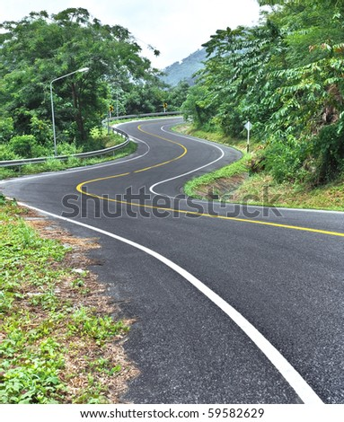 curve road on mountain