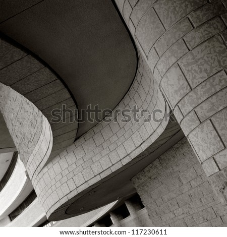 Curved architecture of The Museum of Civilization, Ottawa, Canada