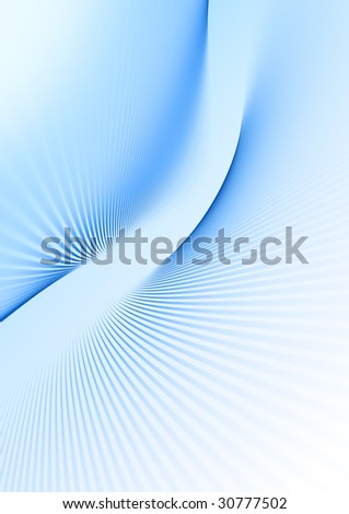 curved blue lines in perspective