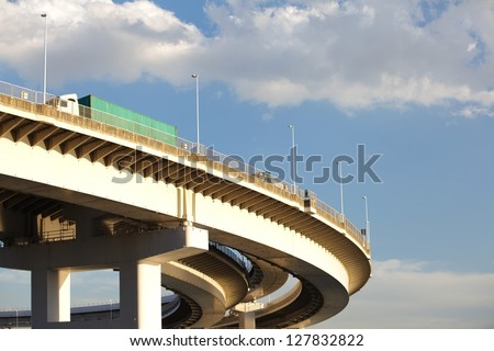 Curved bridge highway