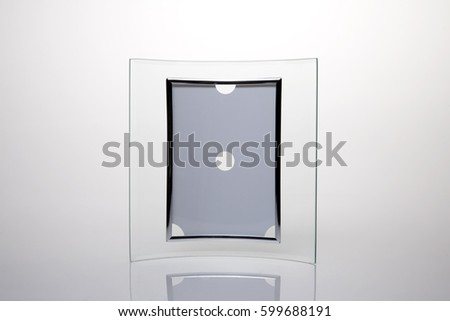 Curved glass photo frame