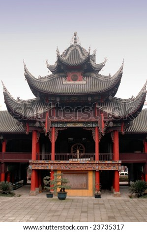 Curved roofs are the most peculiar feature of ancient Chinese architecture.