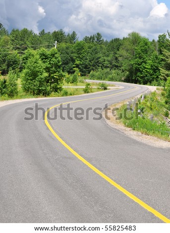 Curved S-shaped road