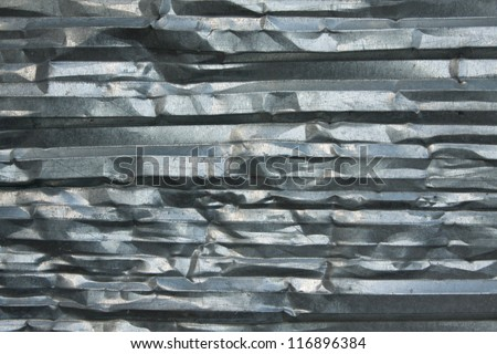 Curved sheet of metal