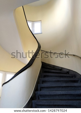 curved staircase in a staircase #1428797024