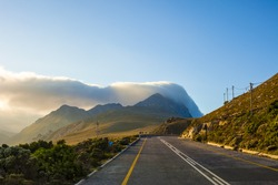 Curving highway near Cape Town, South Africa