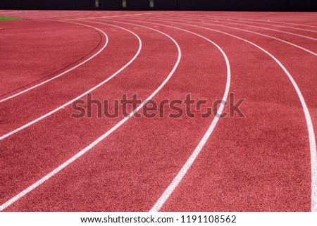 Curving Running Track