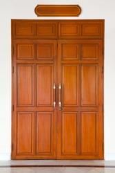 Curving wooden door