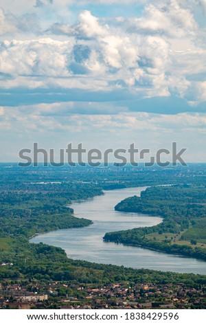 Curvy Danube River in Hungary Сток-фото ©