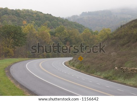 Curvy mountain road.