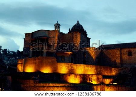 Cusco city by night #1238186788