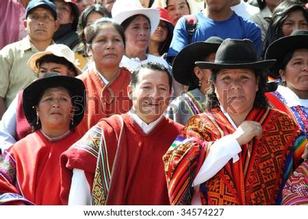 CUSCO , PERU - JUNE 14: Participants participate in celebration of the Plaza de Armas June 14 2009 in Cusco City, Peru.
