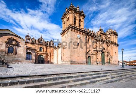 Shutterstock Cusco, Peru - Plaza de Armas and Catedral del Cuzco. Andes Mountains, South America.