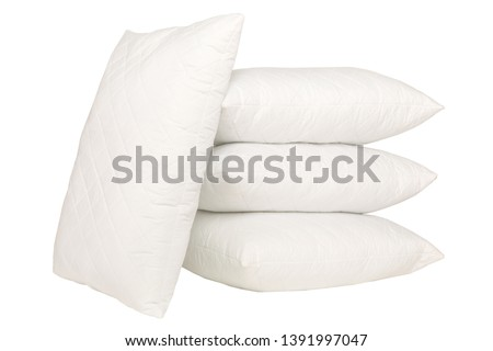 cushion pillow squab  perfect white fluffy product photography #1391997047