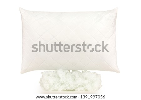 cushion pillow squab  perfect white fluffy product photography #1391997056