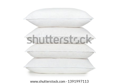 cushion pillow squab  perfect white fluffy product photography #1391997113