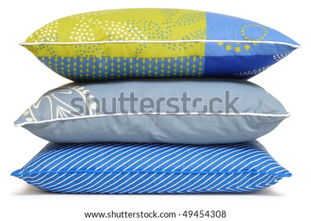 Cushions. Isolated